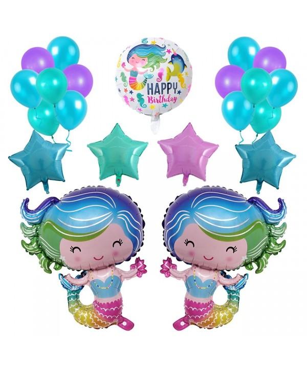 Mermaid Balloons 28inche Birthday Decorations