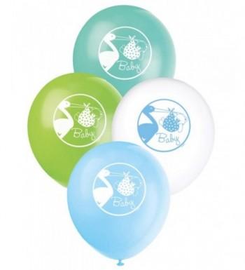 Latex Blue Stork Shower Balloons