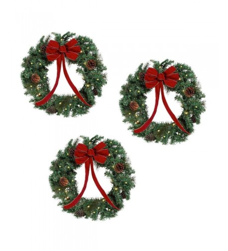 Lighted Holiday Christmas Wreaths Diameter