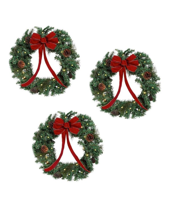 Lighted Holiday Christmas Wreaths Diameter