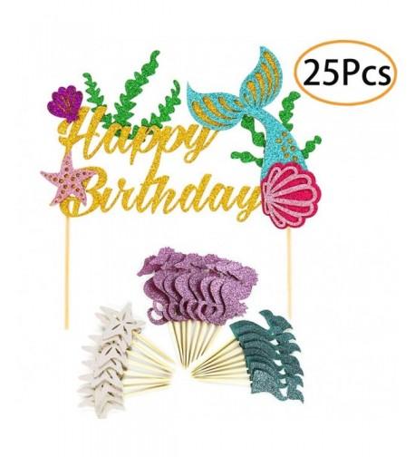 Mermaid Supplies Decorations Cupcake Birthday