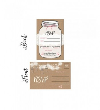 Postcards Envelopes Engagement Bachelorette Invitations