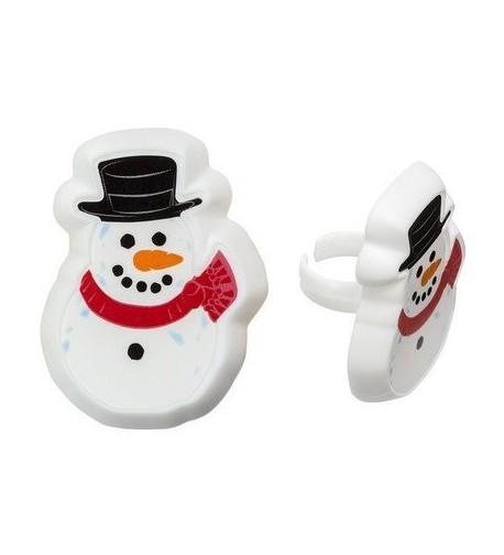 Christmas Party Favor Snowman Cupcake