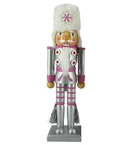 Christmas Nutcracker Metallic Peppermint Rhinestone
