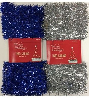 Christmas Tinsel Garland Assorted Measure