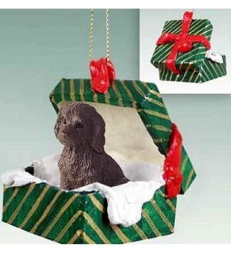 Labradoodle Gift Christmas Ornament Chocolate