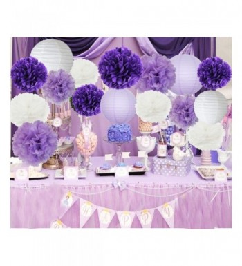 Furuix Decorations Lavender Lanterns Birthday