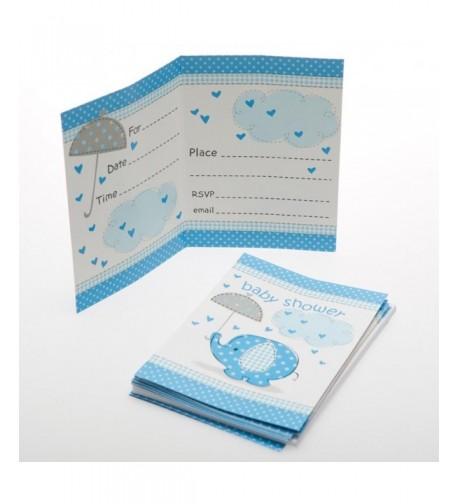 Blue Elephant Baby Shower Invitations