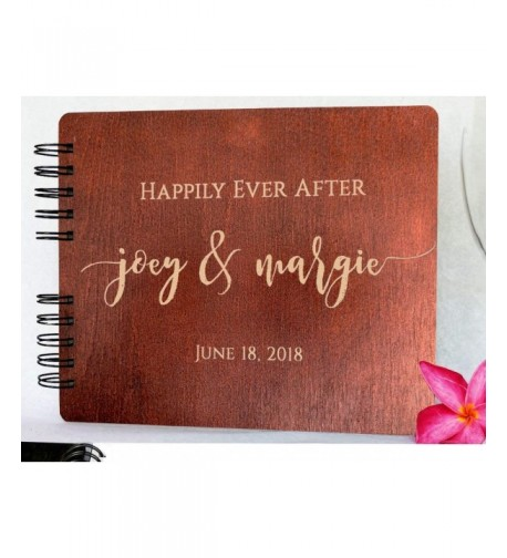 Mahogany Personalized Monogrammed Anniversary Guestbook