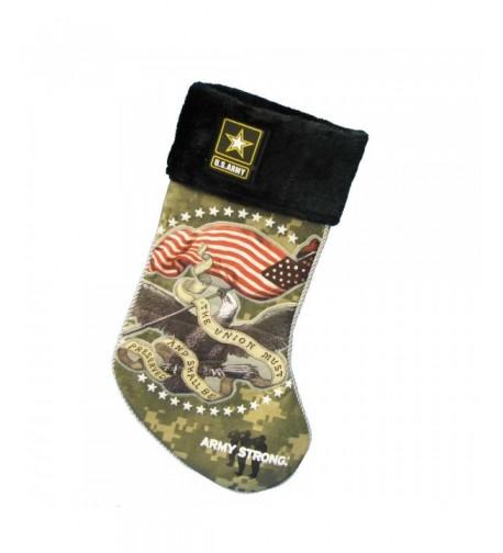 U S Army 19 Inch Applique Stocking