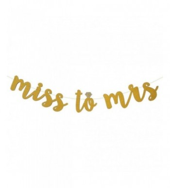 SWEETTALA Glitter Cursive Bachelorette Engagement