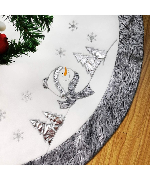 WEWILL Christmas Embroidered Snowflake Stockings
