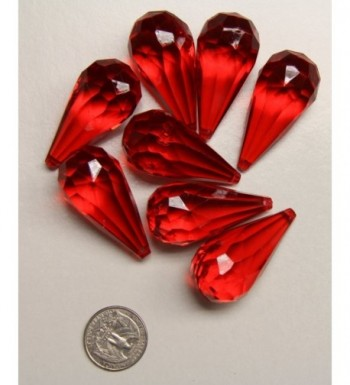 Ruby Red Acrylic Drop Ornaments