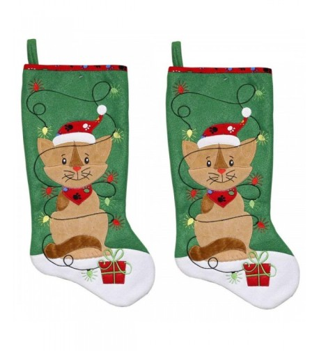 New Traditions 2 Pack Fleece Stockings