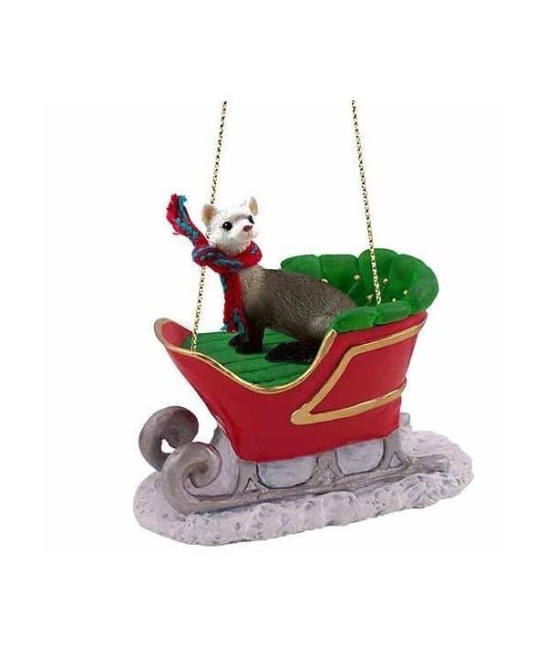 Christmas Ferret.Ferret Sleigh Ride Christmas Ornament Delightful Cw11hbhrdzh
