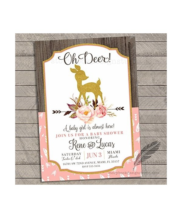 Deer Baby Shower Invitations Personalized
