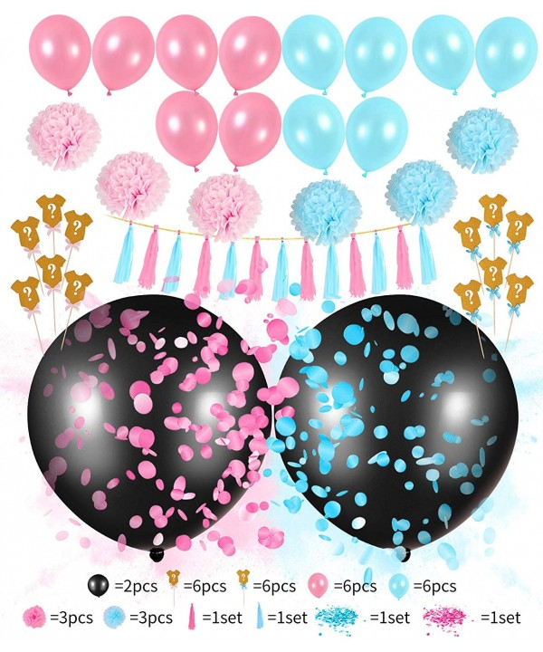 Balloons Gender Reveal Decorations Confetti
