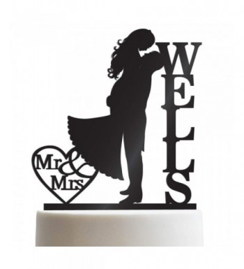 Kissing Customized Wedding Personalized Toppers