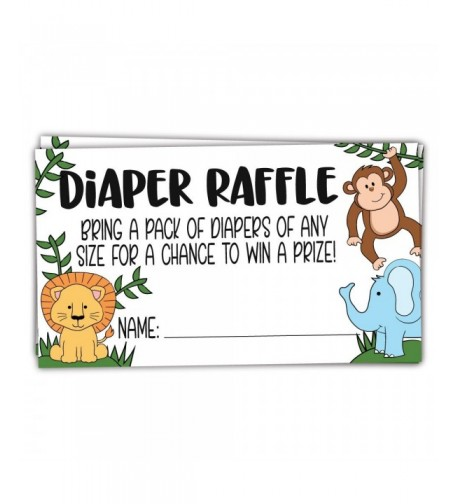 Safari Jungle Animals Diaper Tickets