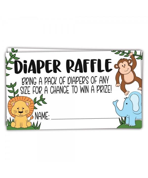 Safari Jungle Animals Diaper Tickets
