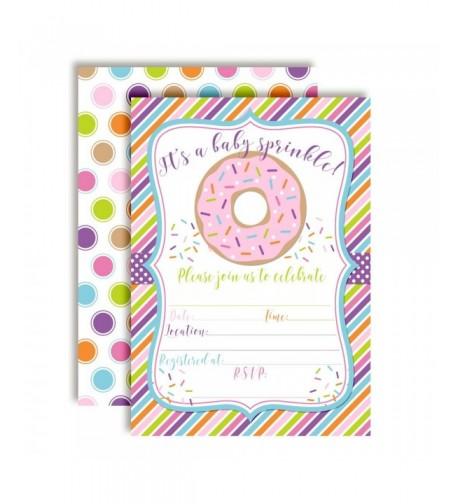 Themed Sprinkle Invitations Envelopes AmandaCreation