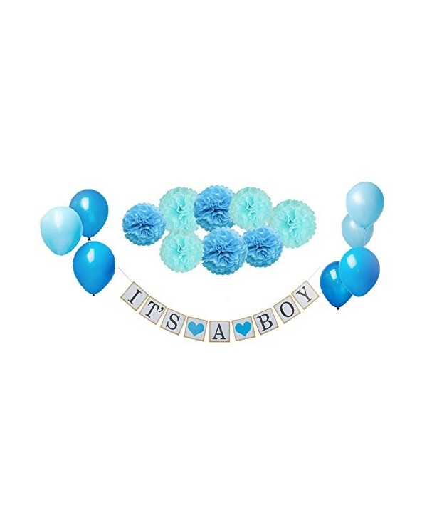 Shower piece decoration banner balloons