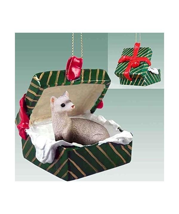 Ferret Gift Box Christmas Ornament