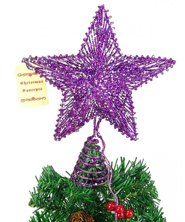 Purple Springy Star White Lights