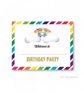 Rainbow Birthday Upon Supplies Decoration