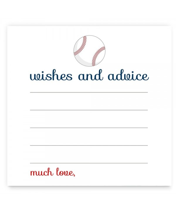 Baseball Baby Shower Advice Card