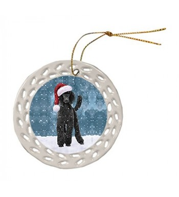 Doggie Day Poodle Christmas Ornament