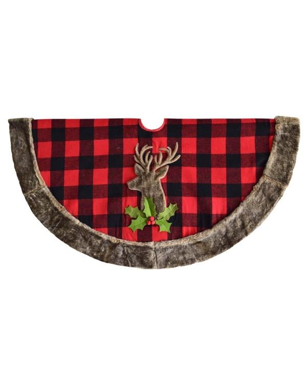 Gireshome Reindeer Applique Embroidey Christmas