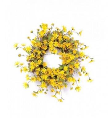Melrose International Yellow Wreath 23 Inch