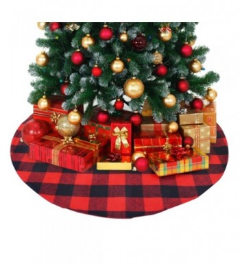 ATLIN Buffalo Plaid Christmas Skirt