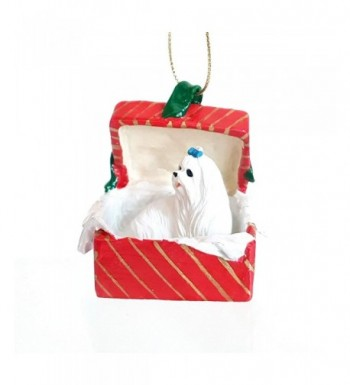 MALTESE sits Christmas Ornament RGBD34