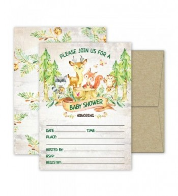 Deluxe Woodland Invitations Invites Envelopes