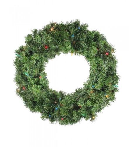 Pre Lit Canadian Artificial Christmas Wreath