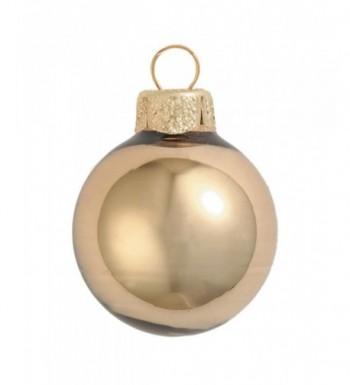 40ct Shiny Glass Christmas Ornaments