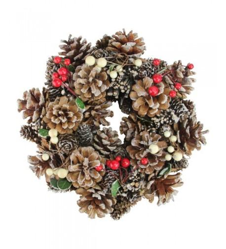 Northlight Cones Berries Christmas Wreath