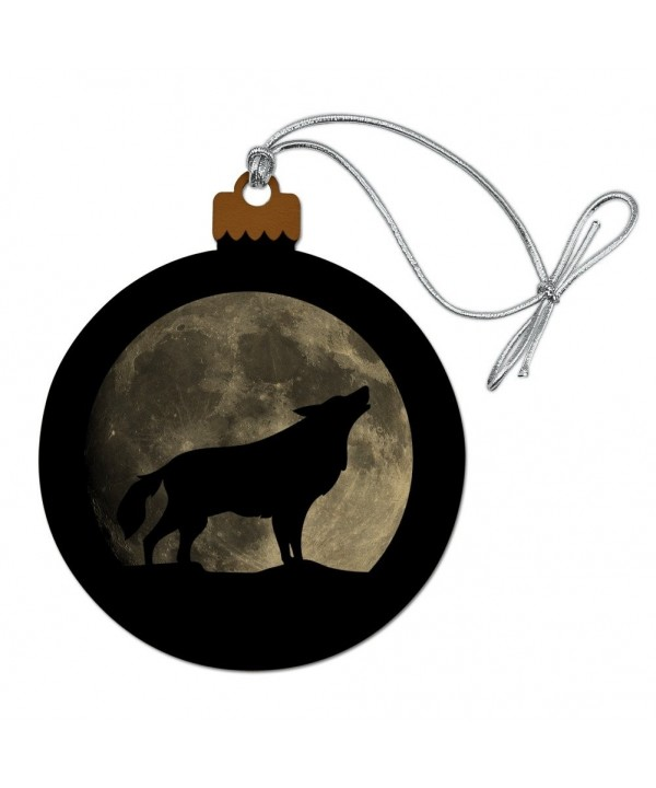 Howling Silhouette Christmas Holiday Ornament