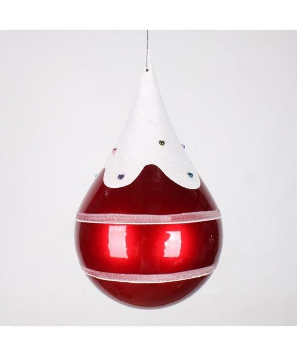 Vickerman Finish Teardrop Christmas Ornament