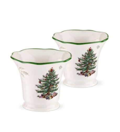 Spode Christmas Pierced Holder Lights