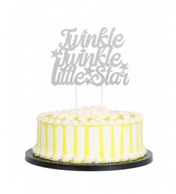 PALASASA Silver Glitter Twinkle Birthday