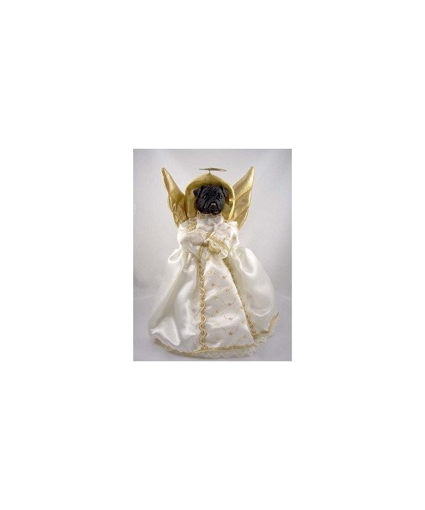 Pug Black Angel Tree Topper