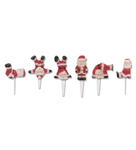 Tumbling Santa Claus Christmas Cupcake