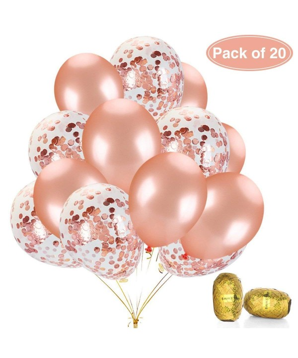 Large Rose Gold Balloons Decorations
