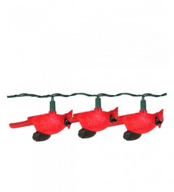 Festive Cardinal Novelty Christmas Lights