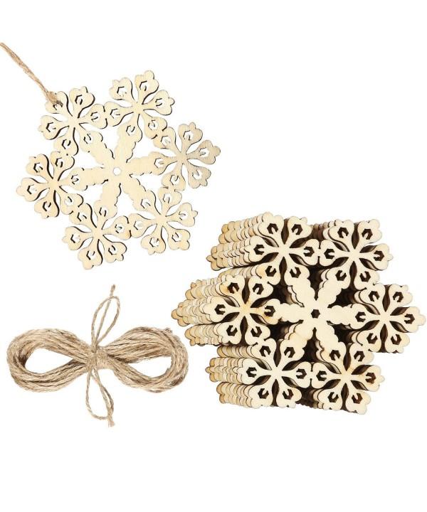 Aneco Hollowed Christmas Snowflake Ornaments