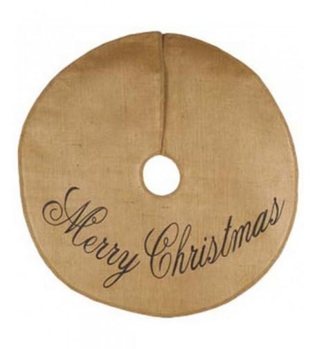 Merry Christmas Script Cotton Burlap