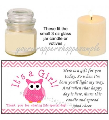 Shower Candle Party Favor Labels